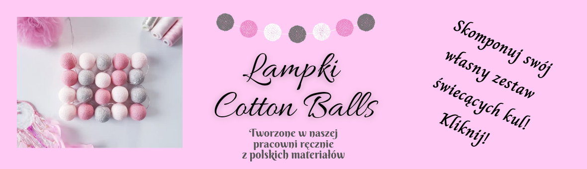 Lampki Cotton Balls